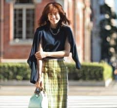 【丸の内・日めくり7days①】夫とのデートは丸の内で。アンサンブル×キルトスカートでちょっとおめかし