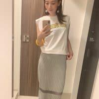 形が超絶キレイ!!H&M999円のTシャツ♡
