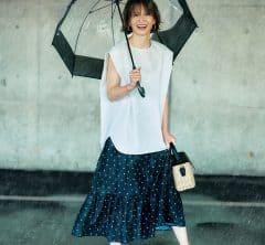 雨なのに着れる!最新の「撥水ふんわりスカートandワンピ」5選