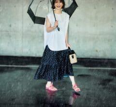 オシャレな撥水スカートが、雨を玉のようにはじく![7/5 Mon.]