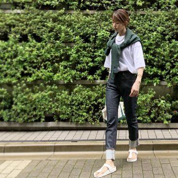 NAVY×WHITE×GREEN でヘアメンテナンスへ   武藤京子ブログ