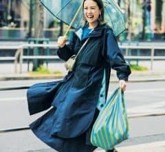STORYスタイリストのレインファッションSNAP【小物使いがカギ】