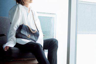 お気に入りの新作バッグでモノトーンコーデ[9/28 Tue.]