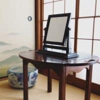 松本民芸家具の卓上鏡