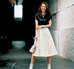 トレンドのキルティングスカートは人と差がつくフェイクレザー素材を選んで[10/20 Wed.]
