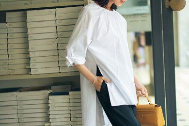シンプルモノトーンは今季トレンドNo,1の裾リブパンツで最旬アップデート![10/10 Sun.]