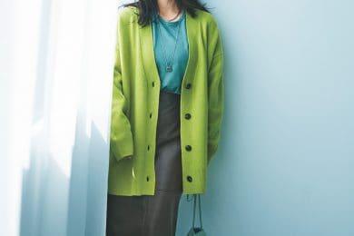 カラーファッションは寒色同士のくすみ色をかけ合わせればキレイにまとまる![10/15 Fri.]