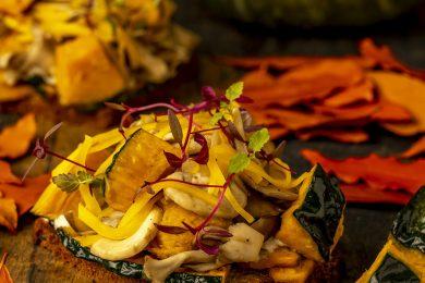 表参道「Nicolai Bergmann Nomu」の紅葉が美しい店内で秋の味覚を味わって