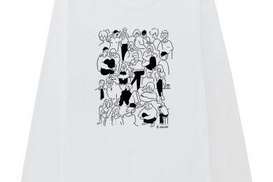 ユニクロ×人気アーティスト 長場雄さんが再びコラボ!3店舗限定でTシャツ、パーカ、トートバッグを発売