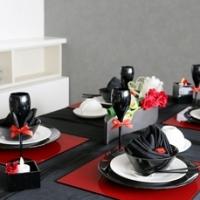 バレンタインのテーブルコーディネート
