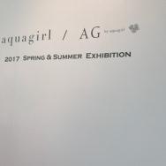 aquagirl 2017ss展示会で既に春気分♪